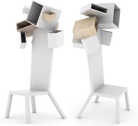 funky-white-wood-storage-chairs