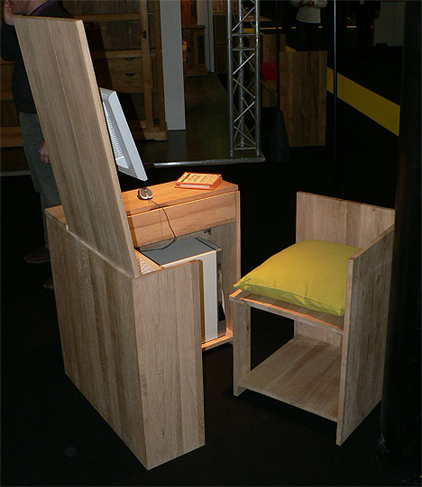 hidden-desk-chair-combination