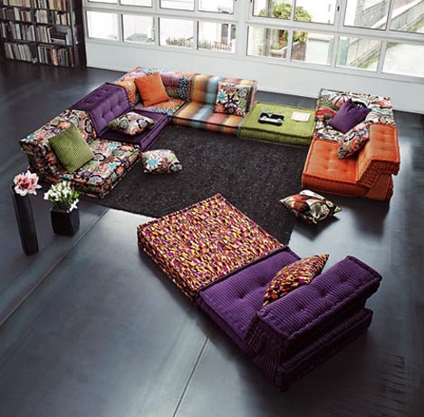 Colorful Furniture Sets for Creative Living Room Interiors ...