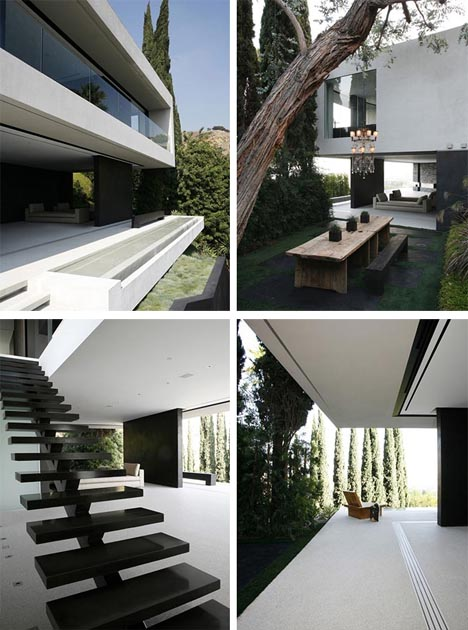 Modern Hillside Homes extreme modern hillside home with an amazing view