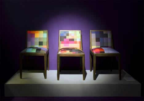 Creative Furniture Sets Colorful Pixel Couches Chairs