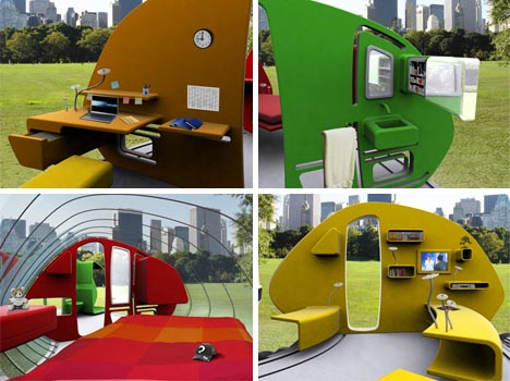 Open House Modern Fold Out Mobile Home Design