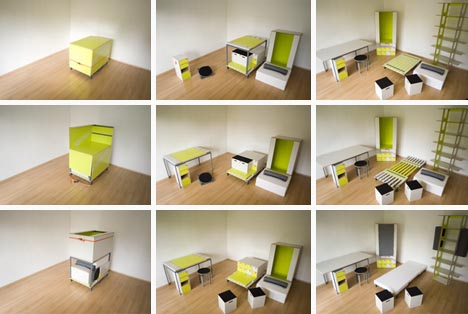 Merveilleux Room In A Box: Transforming Fold Out Furniture Design