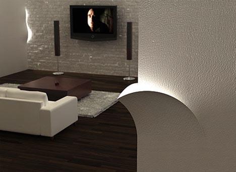 Torn Lights Creative L Away Interior Lighting Idea