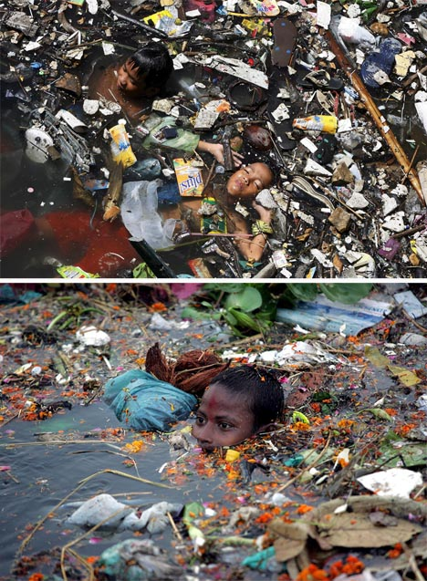 trash-swimming
