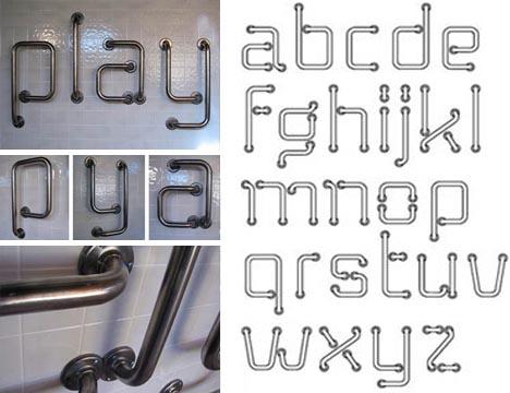 typography-metal-bar-font