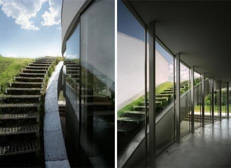 Modern Green Unique Underground Home Design Plan