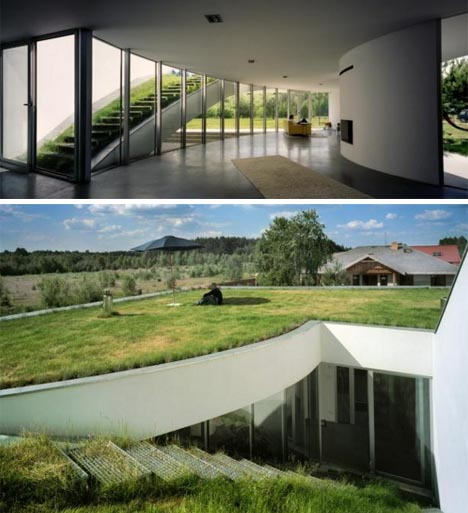 Underground Home With Green Roof