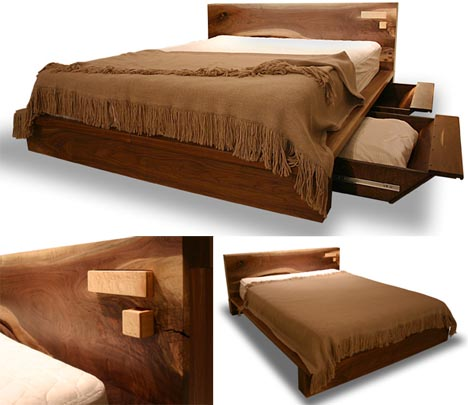 . Rustic Modern  Comfortable Wooden Bed Frame Design   Designs   Ideas