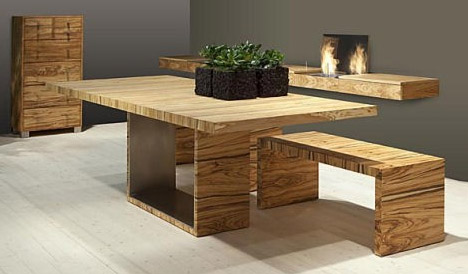 all-wood-modern-dining-room-table