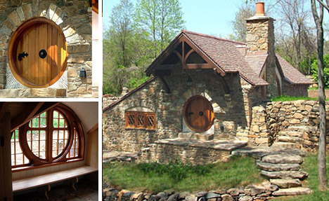 Hobbit home blends forest fantasy structural reality for Fantasy house plans