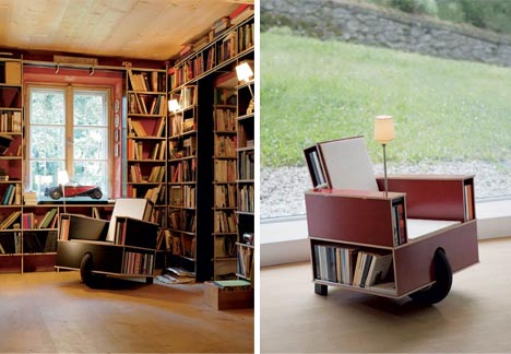 clever-rolling-bookcase-chair-design