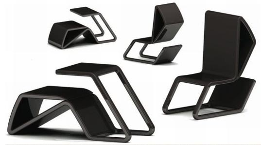 Furniture Design Chair flip-over furniture: convertible chair-and-desk design