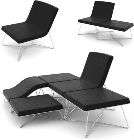 Convertible Chair Sofa Combination