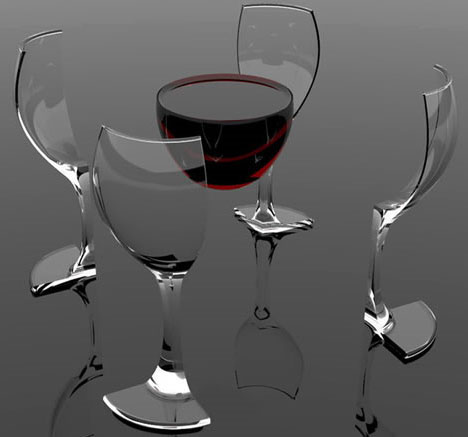 Impossible Wine Glass! 3 Clever Tableware Design Ideas