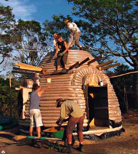 Home Design Ecological Ideas: DIY Eco-Friendly Earthbag Homes
