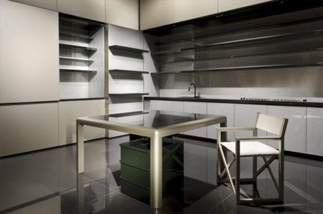 Hidden Room: Fold Up Luxury Kitchen Interior Design