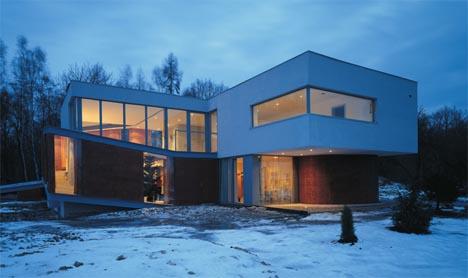 Modern White Wood House Design
