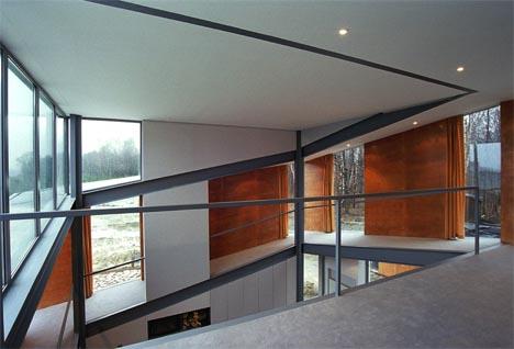 Creative Conceptual White, Wood & Steel Home Design