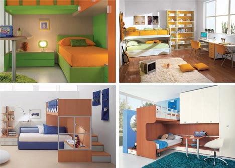 playful kids bedroom interior design - Kids Bedroom Interiors