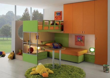 Interactive Interiors: Convertible Kids Bedroom Furniture
