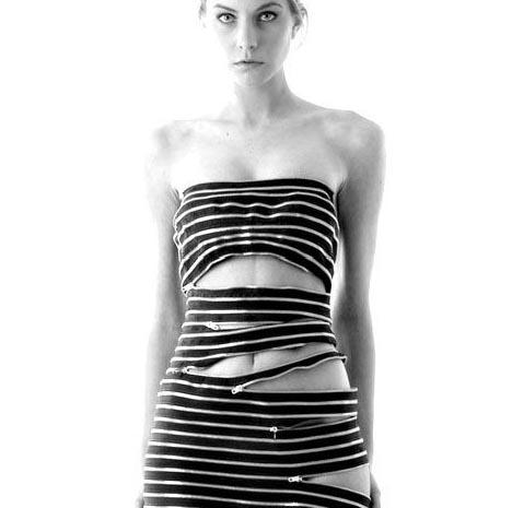 Customizable Clothing: Unique 120-Zipper Dress Design | dornob :  sebastian errazuriz fashion style zipper
