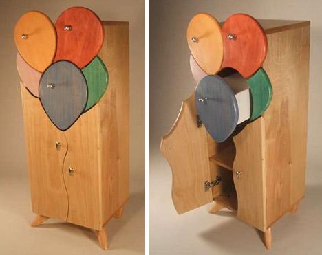 unique-colorful-wood-cabinet