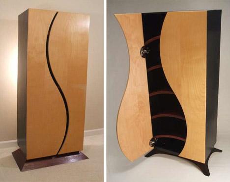 unique-curvy-wooden-wardrobe