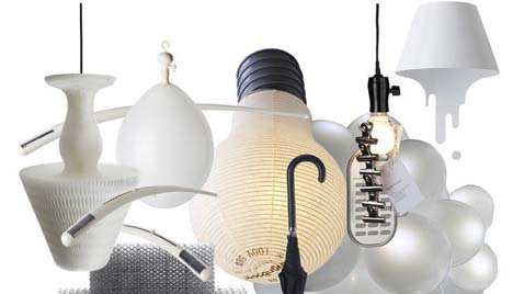 Unique ceiling & table light lamp & bulb designs