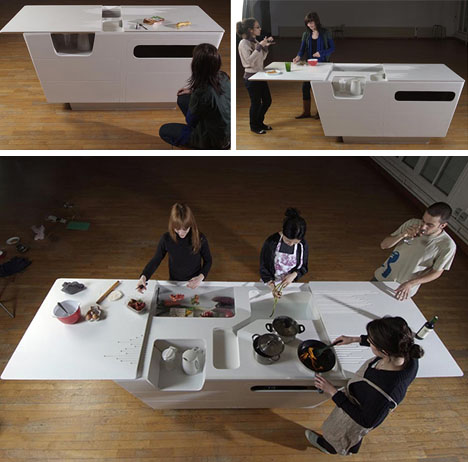 Fold Out Furniture Combined Kitchen Island Work Table Designs Ideas On Dornob