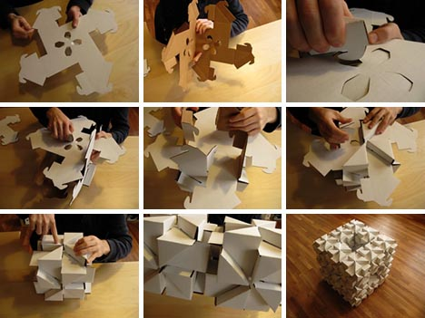 Diy cardboard craft idea cheap modular building blocks cardboard diy recycling idea solutioingenieria Choice Image