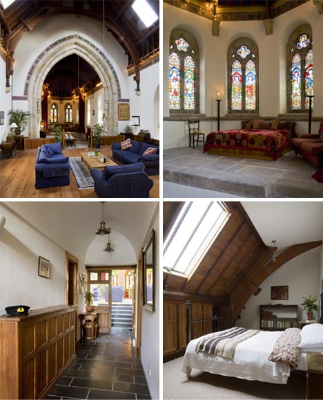 converted church home interior