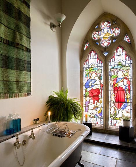 Converted Into Houses: Countryside Church Building Converted Into Luxury Home