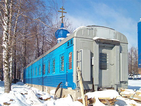 converted train car church