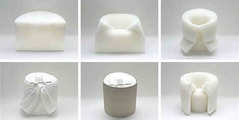 creative paper art chairs