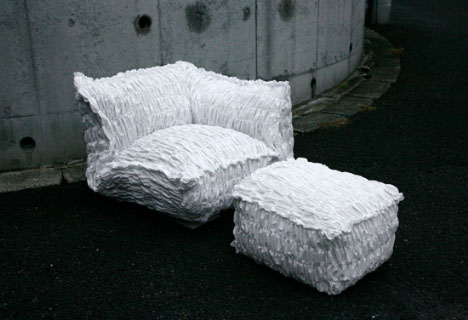creative paper couch design