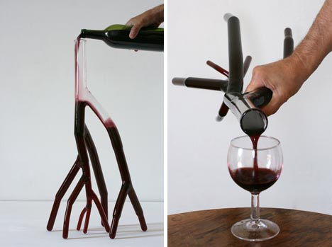 creative red wine decanter