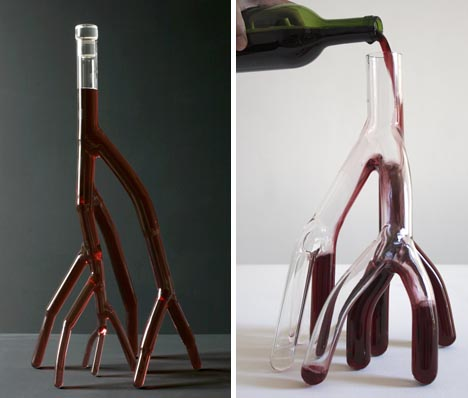 creative red wine glassware