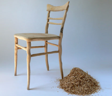 custom curved wood chair