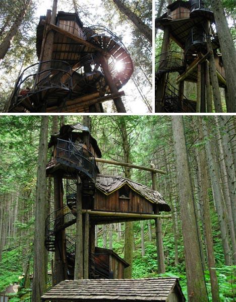 fantasy tree house fort
