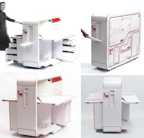 Mobile Fold Out Home Office, Desk U0026 Work Station Design