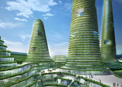 Futuristic Living City Walls