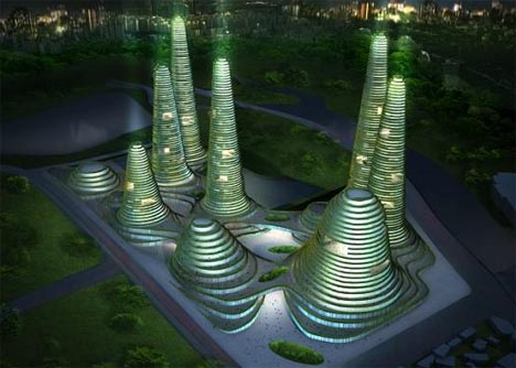Eco Friendly Urban Center Sustainable City Of The Future