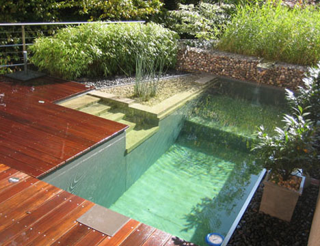 Natural Home Patio Pools & Outdoor Wood Deck Designs