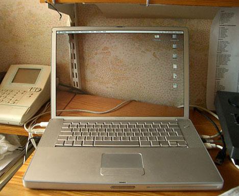 invisible laptop screen idea
