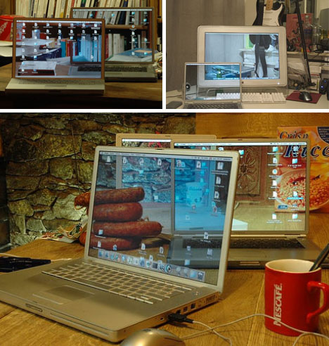 invisible layered laptops