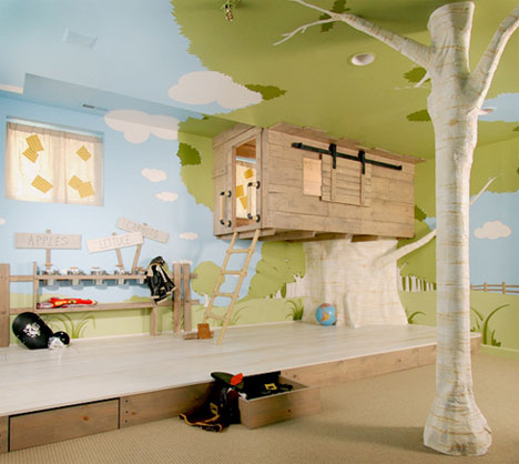 cool interior tree home best kids bedroom design ever - Kids Bedroom Interiors