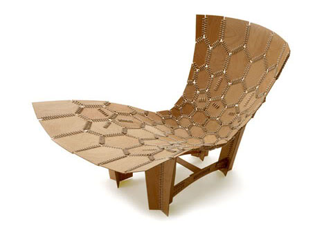 Knit Leather & Wood Contemporary Lounge Chair Design