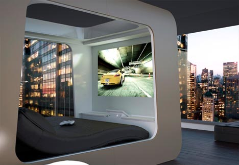 High Tech Bed Has Built In Tv Computer Game Systems