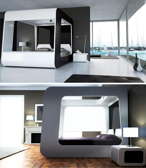 luxury multimedia tv bed design